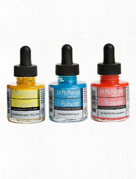 Iridescent Calligraphy Colors 1 Oz. Silver