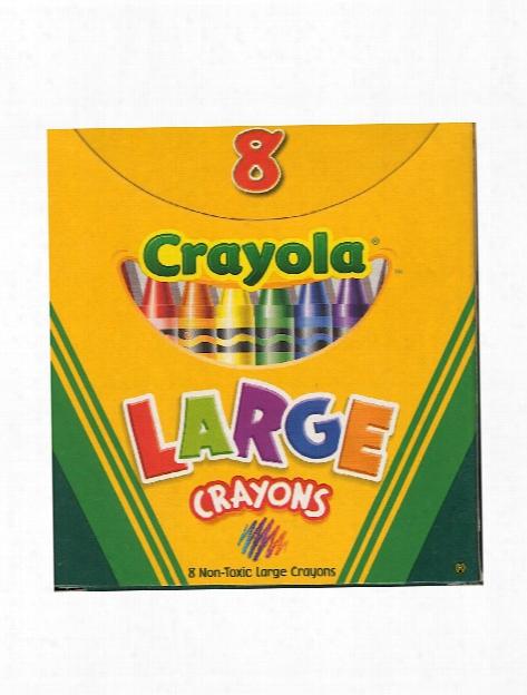 Large Crayons Box Of 8