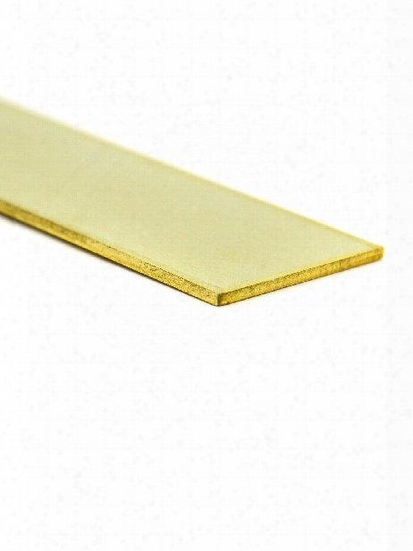 Metal Strips Brass .016 In. X 1 2 In. 12 In.