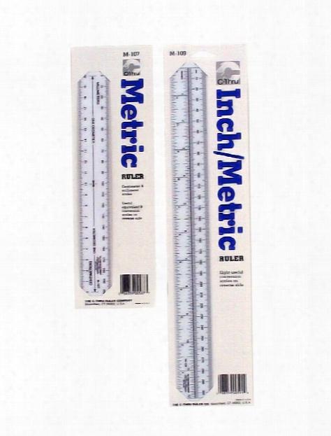 Metric Opaque Ruler 12 In.