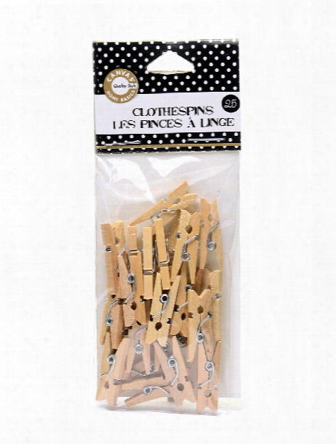 Mini Clothespins Natural 1 In. Pack Of 25