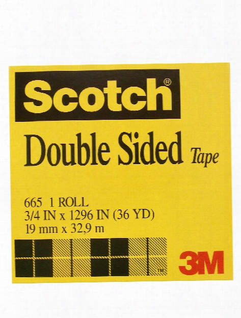 Lasting Double Sided Tape 1 2 In. X 36 Yd. Roll With 3 In. Core 665