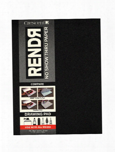 Rendr No Show Thru Drawing Pad 11 In. X 14 In. Tapebound Pad Of 16 Sheets