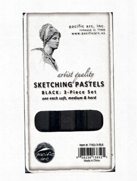 Sketching Pastels Sets Black 3-piece Set