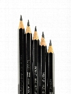 Graphite Aquarelle Water-soluble Pencils assorted set of 5 with brush