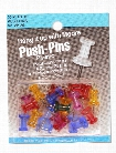 Push Pins clear plastic pack of 20