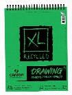 XL Recycled Drawing Pads 9 in. x 12 in. pad of 60 sheets wire bound top
