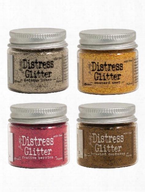 Tim Holtz Distress Glitter Clear Rock Candy 3 Oz. Jar