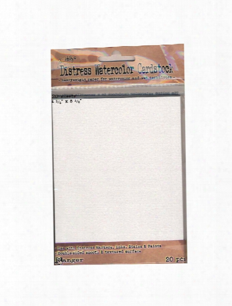 Tim Holtz Distress Watercolor Cardstock 4 1 4 In. X 5 1 2 In. 20 Sheets
