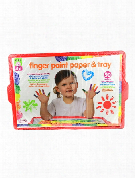 Tots Finger Paint Paper & Tray Each