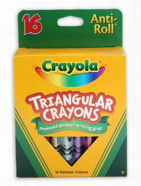 Washable Triangular Crayons Box Of 8