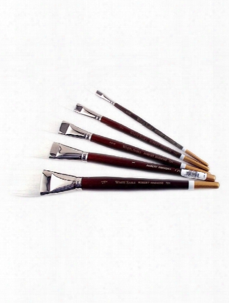 White Sable Long Handle Brushes 3 Round 761r