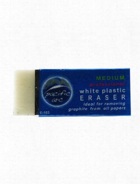 White Vinyl Eraser Each