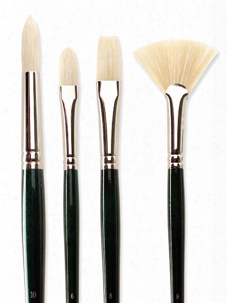 Winton Hog Brushes 2 Short Flat Bright