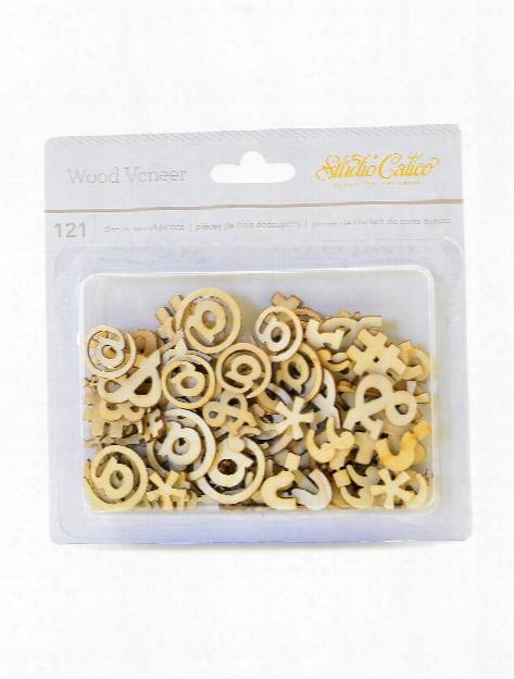Wood Veneer Pieces Garden Pack Of 17