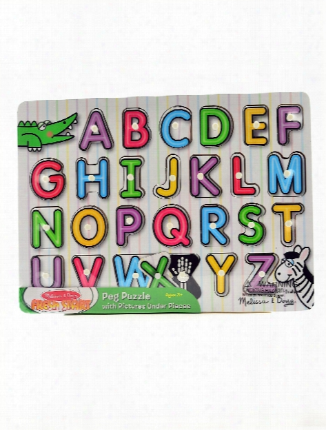 Wooden Peg Puzzles See-inside Alphabet
