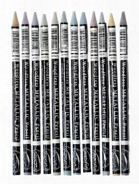 Woodless Graphige Drawing Pencil Sets Set Of 12 Metallics