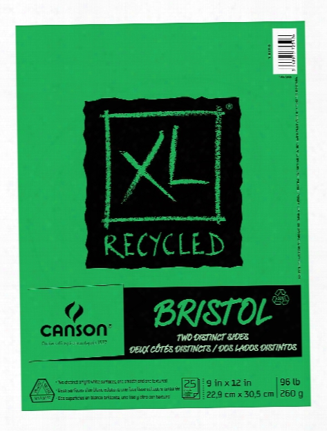 Xl Recycled Bristol Pads 9 In. X 12 In. Pad Of 25 Sheets Fold-over