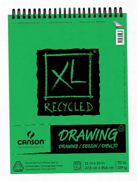 Xl Recycled Drawing Pads 9 In. X 12 In. Pad Of 60 Sheets Wire B Ound Top