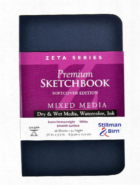 Zeta Series Softcover Sketchbook 3.5 In. X 5.5 In. Portrait 56 Pages