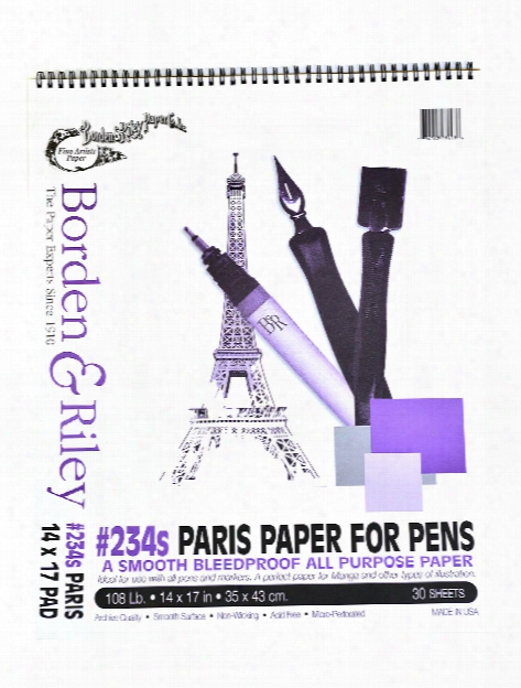 #234 Paris Bleedproof Pads 9 In. X 12 In. 30 Sheets Spiral Bound