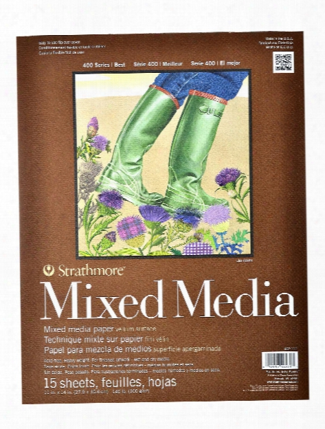 400 Series Mixed Media Pad 6 In. X 8 In. 15 Sheets