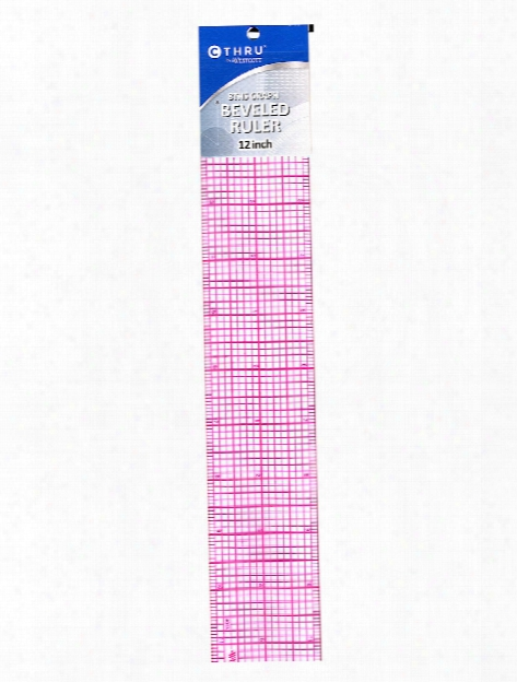 8ths Graph Beveled Transparent Rulers 1 In. X 6 In.