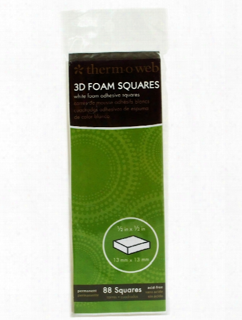 Adhesive Foam Squares 1 2 In. X 1 2 In. Pack Of 88