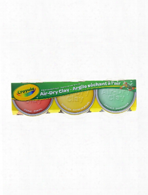 Air Dry Clay Pastel Colors Coral, Sunglow, Emerald Pack Of 3