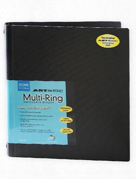 Art Profolio Multi-ring Binder And Refills 8 1 2 In. X 11 In. Vertical Binder