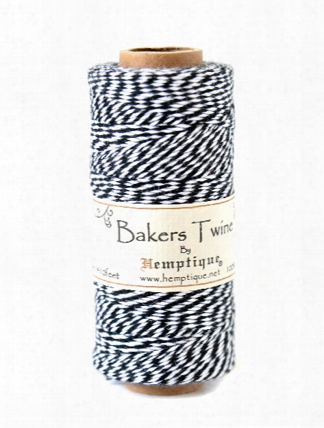 Bakers Twine Spools Cotton 410 Ft. Black White