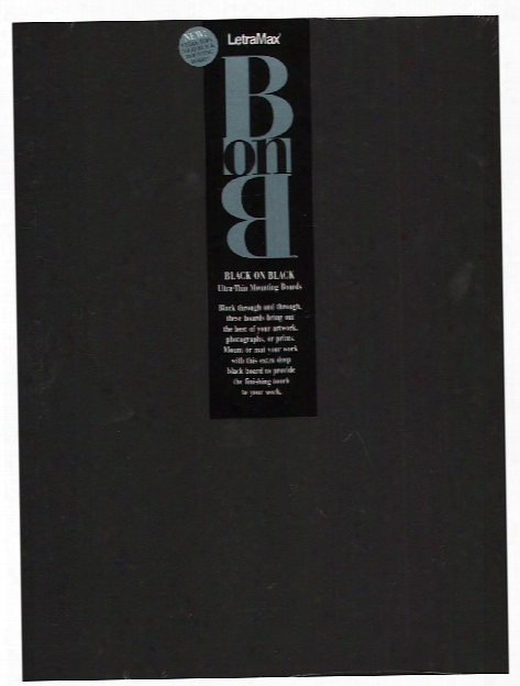 Black On Black Board 11 In. X 14 In. Pack Of 25