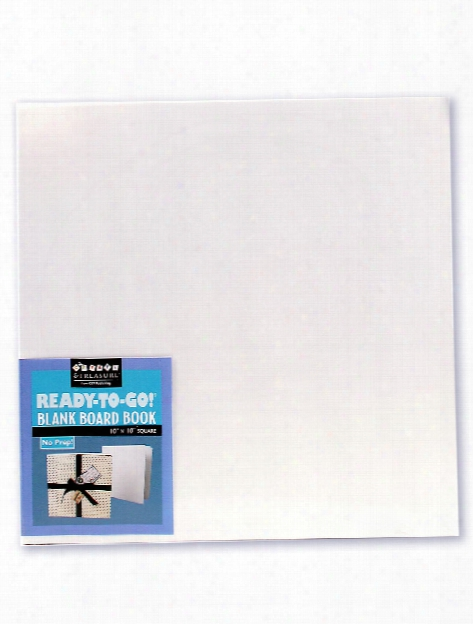 Blank Board Studios 8 In. X 8 In. White Book Of 14 Pages