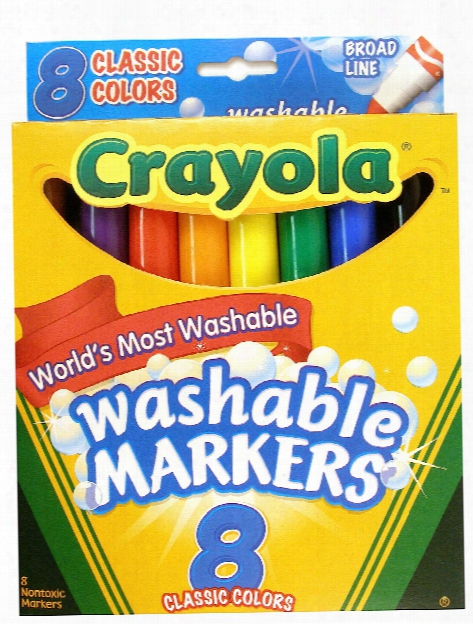 Classic Color Ultra-clean Washable Markers Wedge Tip Pack Of 8