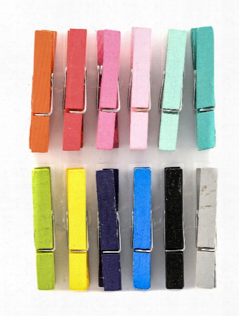 Clothespins Brights 1 In. Pack Of 16