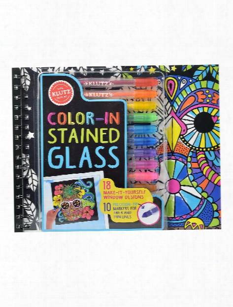 Color-in Stained Glass Each
