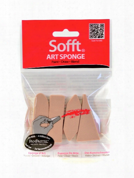Colorfin Art Sponges Round Bar Pack Of 3
