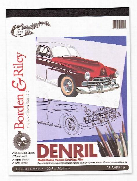 Denril Vellum Pads 24 In. X 5 Yd. Roll