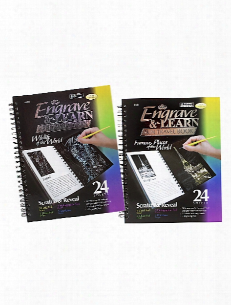 Engrave & Learn Travel Books Famous Places Of The World