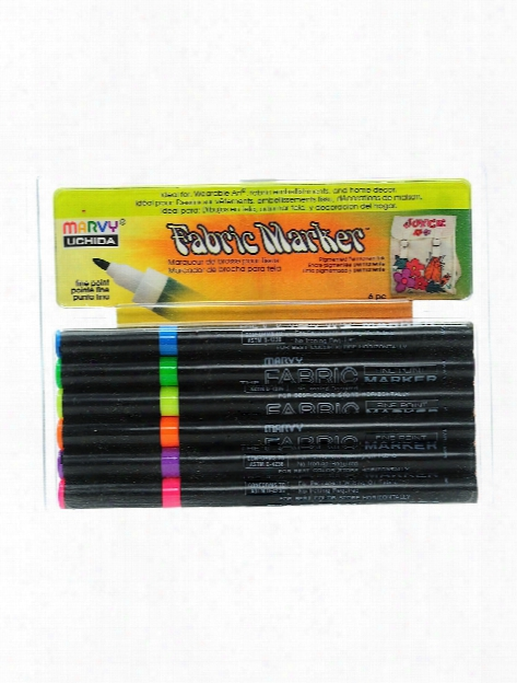 Fabric Markers Sets Fluorescent Set Of 6