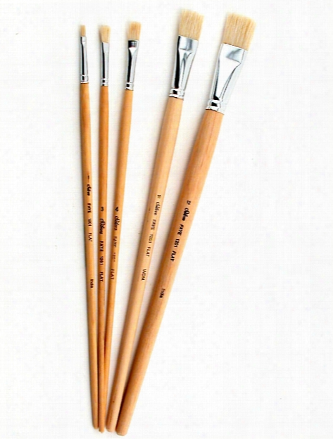 Faye Series White Chinese Bristle Brushes 1 Bright
