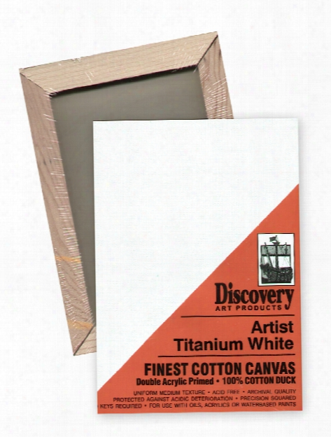 Finest Stretched Cotton Canvas White 24 In. X 48 In. Each