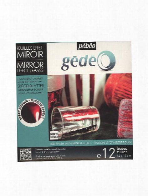 Gedeo Gilding Mirror Effect Metal Leaf Red