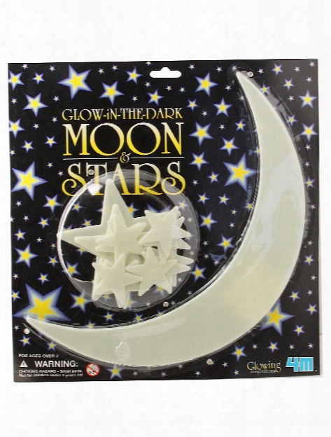 Glow-in-the-dark Stars Moon And Stars Pack Of 10