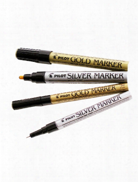 Gold And Silver Markers Silver Medium