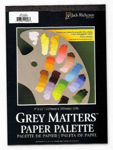 Grey Mqtters Paper Palettes 9 In. X 12 In.