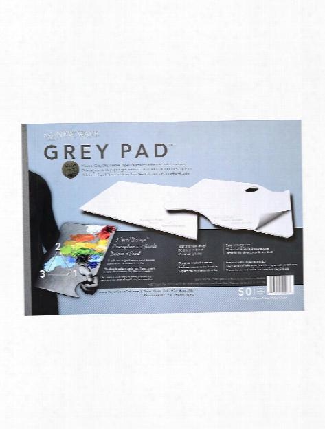 Grey Pad Paper Palette Hand Held