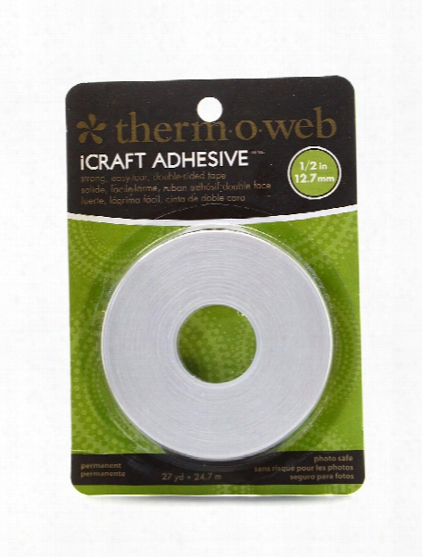 Icraft Easy-tear Double-sided Tape 1 2 In. X 25 Yd. Roll