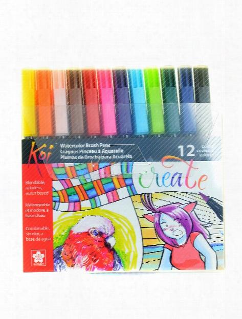 Koi Coloring Brush Sets Set Of 12
