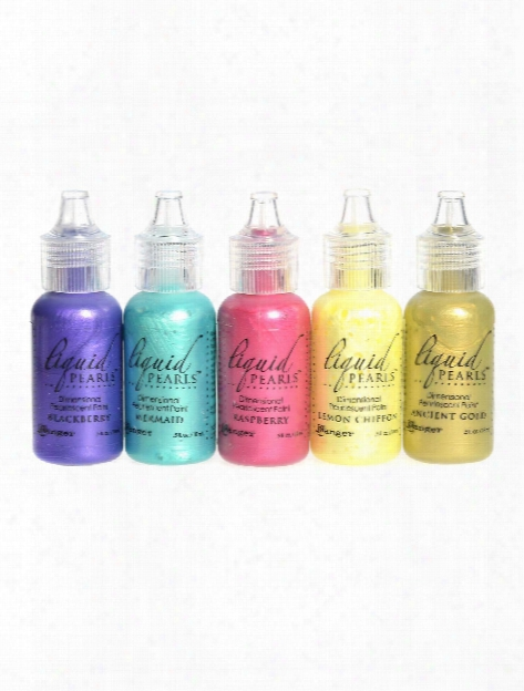 Liquid Pearls Pearlescent Paint Garnet 0.5 Oz. Bottle